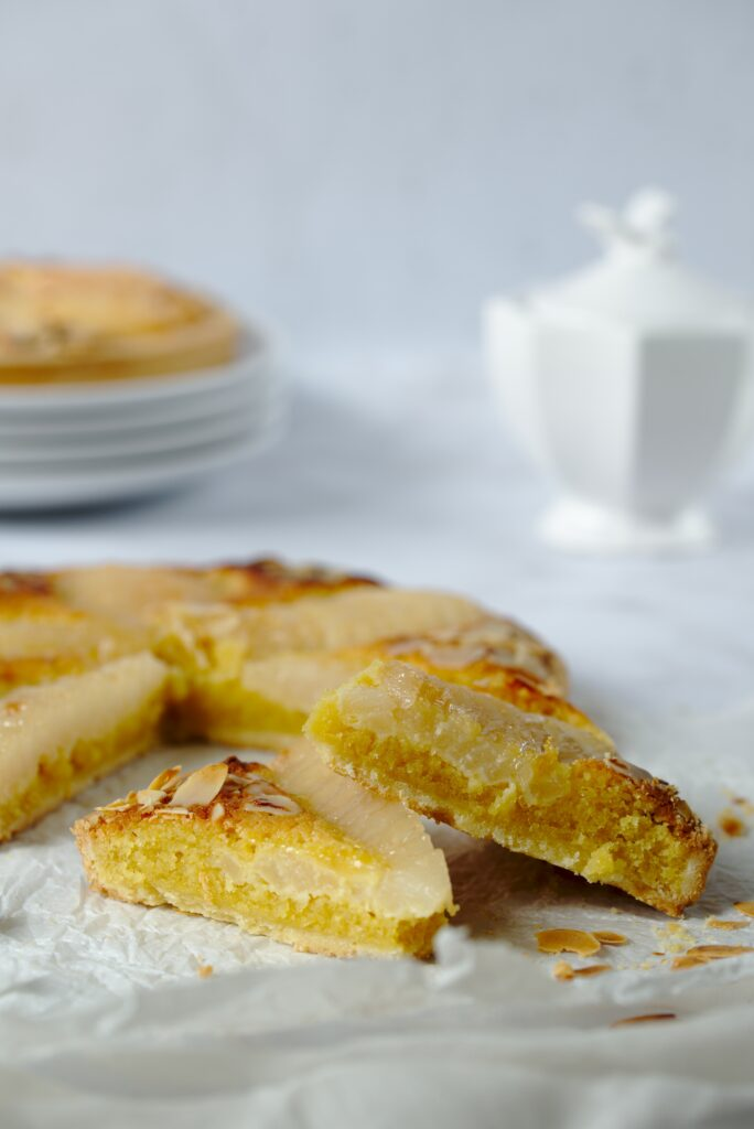 Picture of slice of tarte bordaloue