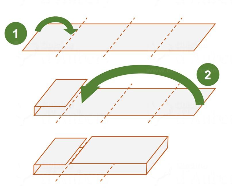 picture of how to fold croissant dough Tour Double diagram