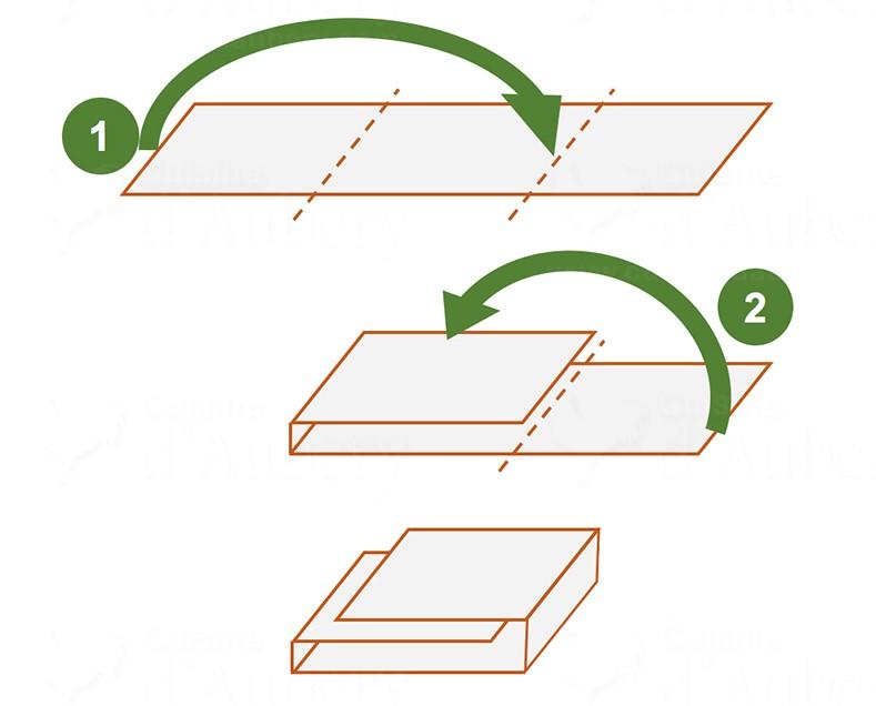picture of how to fold croissants dough Tour Simple diagram