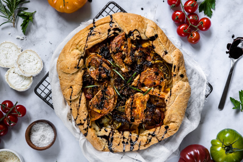 picture of tomato and chevre tart