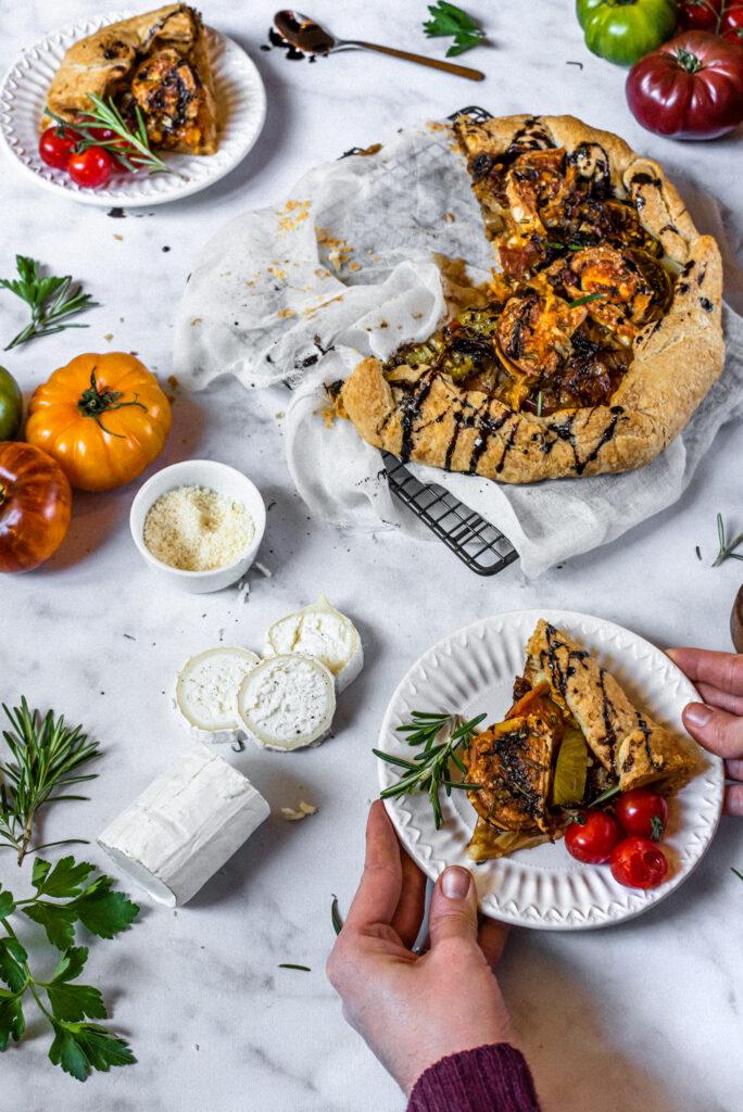 picture of tomato & chevre tart