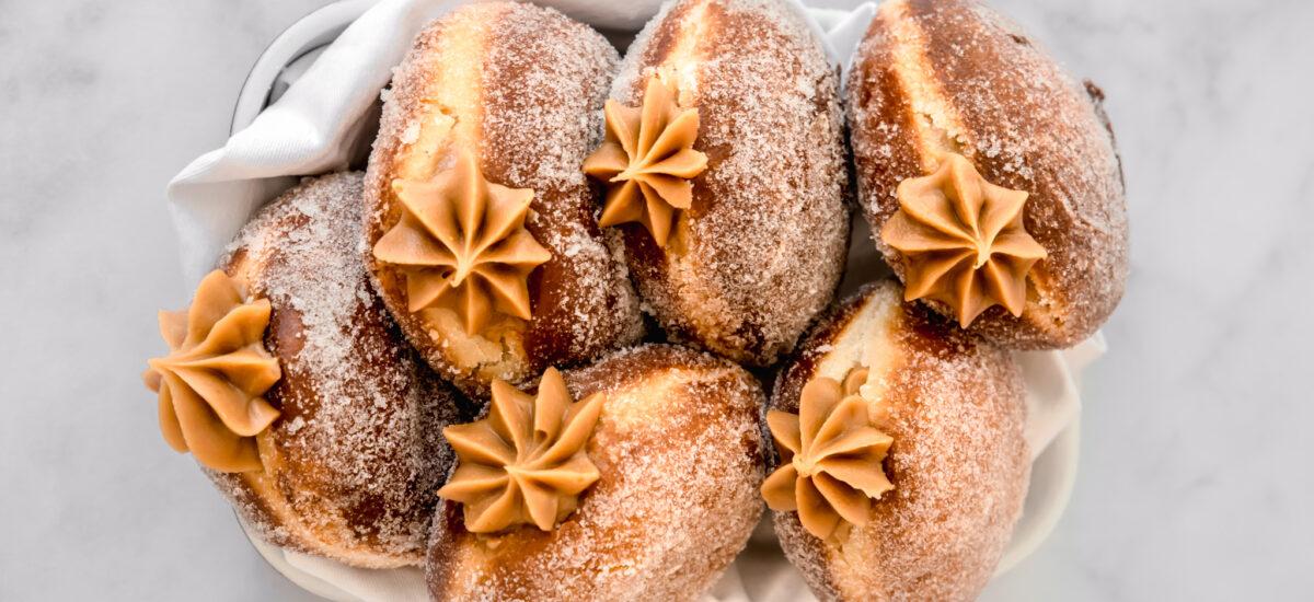 Salted Caramel Brioche Doughnuts