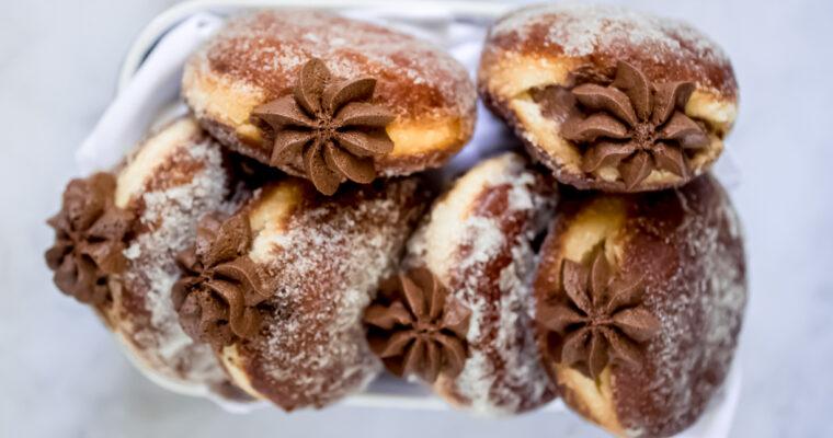 Whipped Chocolate Ganache Brioche Doughnuts
